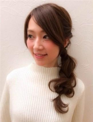 モテる髪型 ポニーテール6